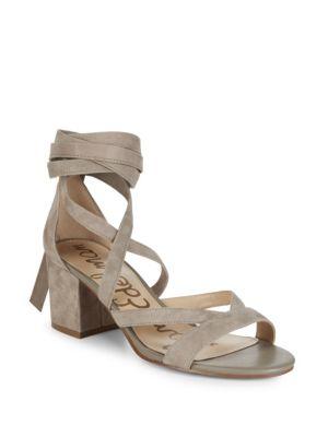 48e3caafc4c Sam Edelman Sheri Suede Block Heel Sandals In Putty