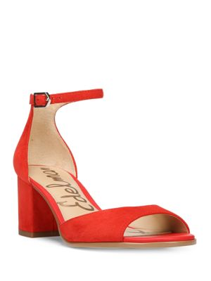 06a1a014d5f91a Sam Edelman Susie Open Toe Block Heel Sandals In Blood Orange ...