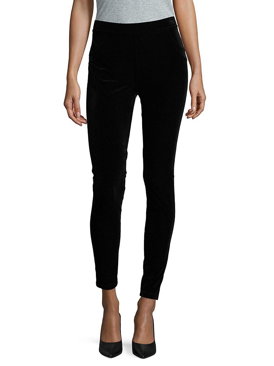 Calvin Klein Collection Women's Velvet Leggings - Black - Size XS