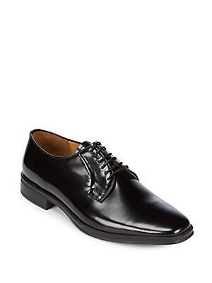 Almond Toe Leather Derbys