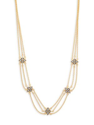 Freida Rothman  Contemporary Deco Triple Strand Necklace