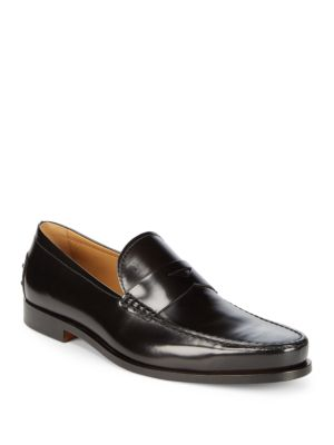 Tod's  LOGO LEATHER LOAFER