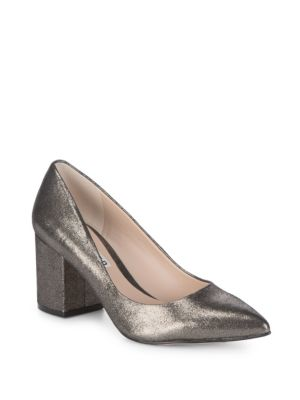 Karl Lagerfeld  Metallic Pumps
