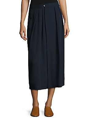 Tossed Ditsy Pleated Skirt by Vince