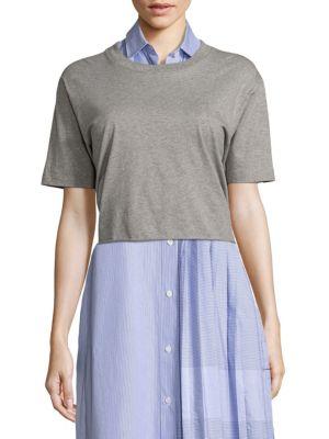 Public School Lara Tie-Back Cotton Jersey Tee