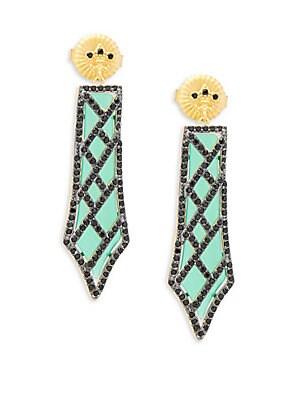 Green Agate Dangle Earrings