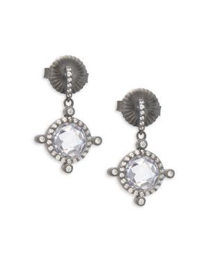 Freida Rothman  Tiara Sterling Silver Drop Earrings