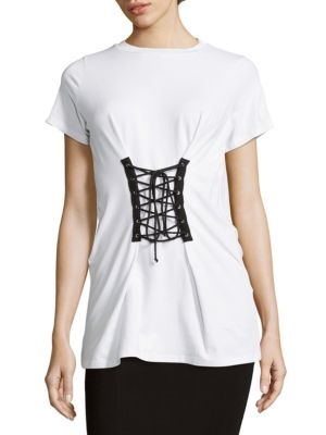Alison Andrews  Lace-Up Front Tee