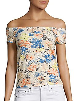 Rebecca Taylor - Off-the-Shoulder Gigi Linen Top