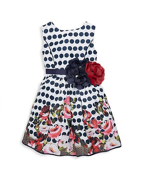 Little Girl's & Girl's Elizabeth Polkadot Dress
