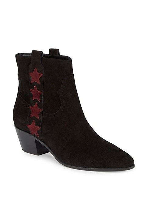 Star Suede Western Boots
