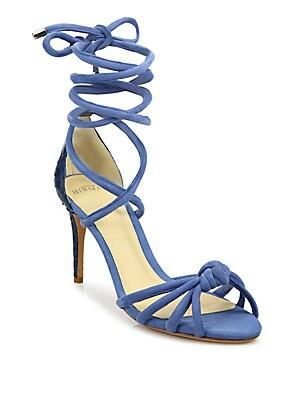 Lana Knot Ankle-Wrap Sandals