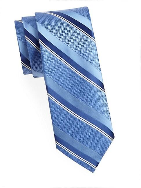 Wide Textured Silk Tie
