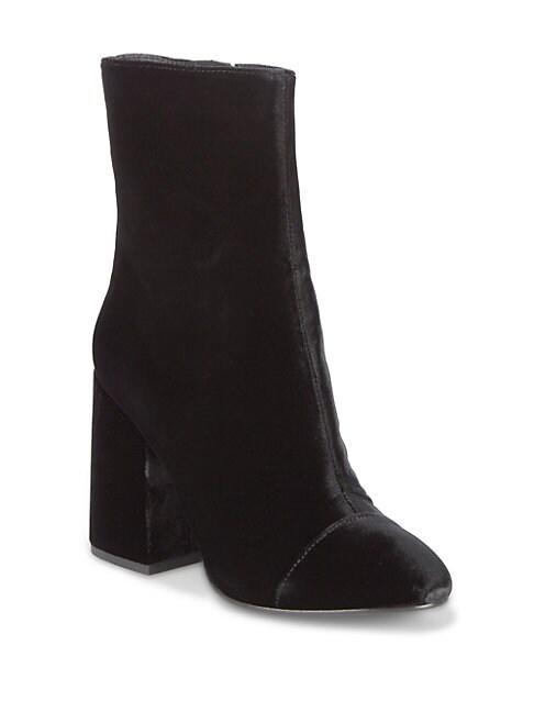 As-Flora Velvet Ankle Boots