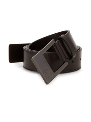 Versace Square Buckle Leather Belt