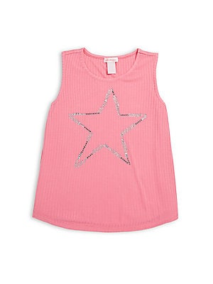 Girl's Beaded Star Tank Top