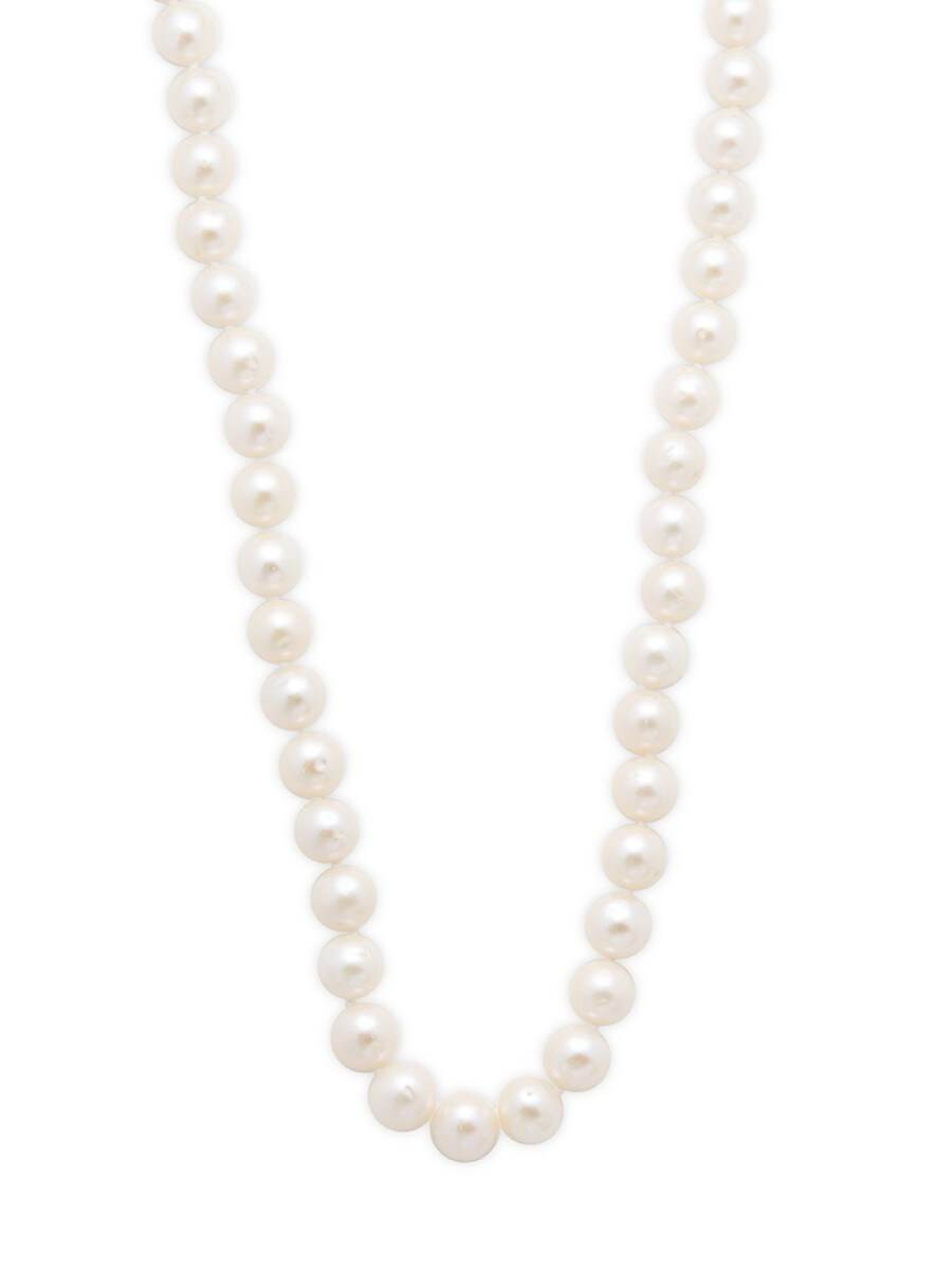 Pearls 8-8.5MM White Pearl & 14K Yellow Gold Necklace