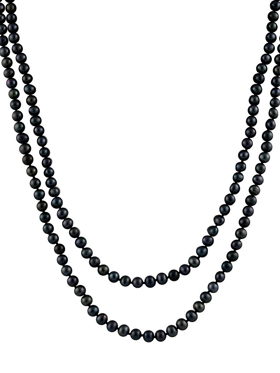 Pearls 7-8MM Black Pearl Endless Necklace