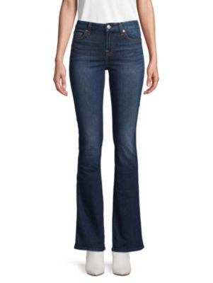 7 For All Mankind Kimmie Bootcut Jeans In Dark Blue