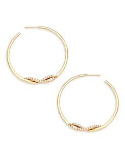 Lana Jewelry Flawless 14K Wrap Hoop Earrings HwC5wEEZE