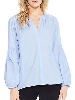 Cotton-Blend Blouse
