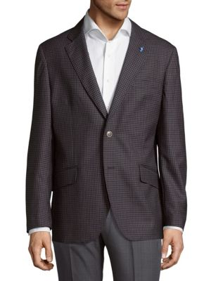 Tailorbyrd  Two-Tone Mini Check Jacket