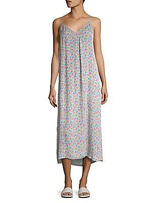 Printed Silk Slip Dress