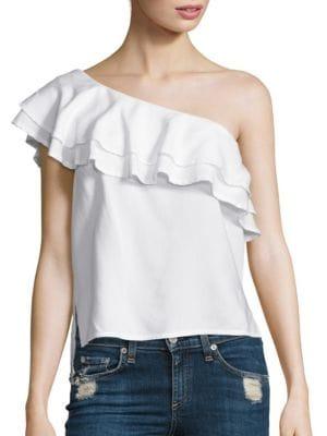 Bella Dahl One-Shoulder Ruffle Top