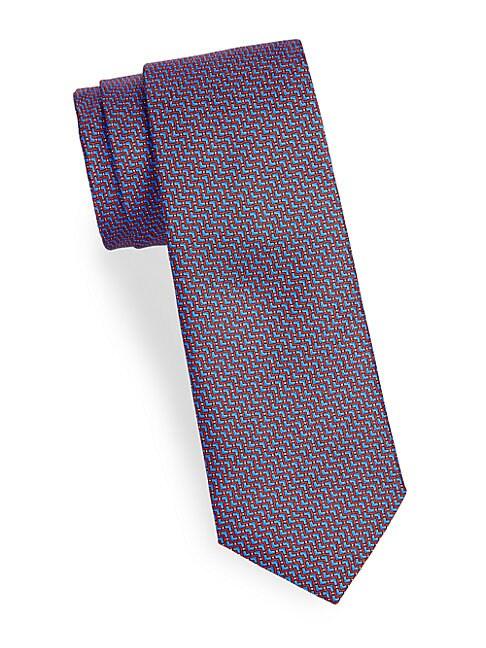 Zig-Zag Silk Tie