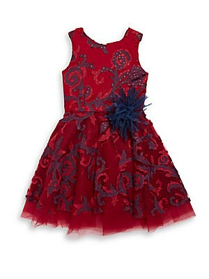 Girl's Ava Swirl Tulle Dress