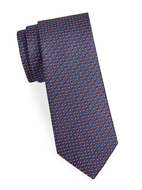 Boxed Link Silk Tie