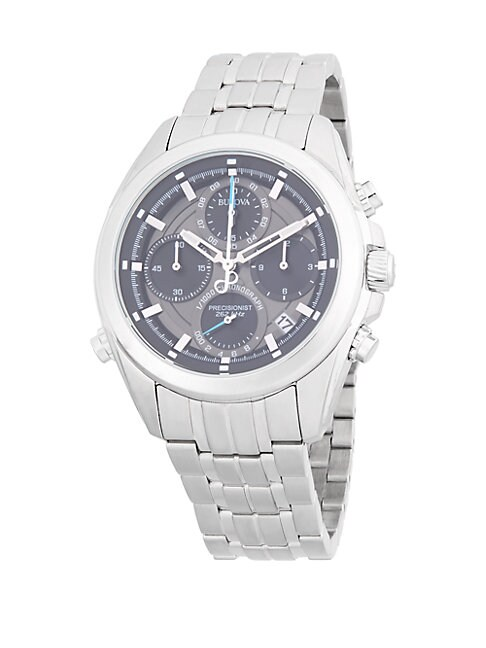 Precisionist Stainless Steel Chronograph Watch
