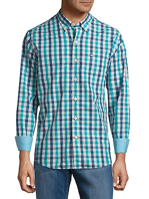 Tudo Check Cotton Casual Button-Down Shirt