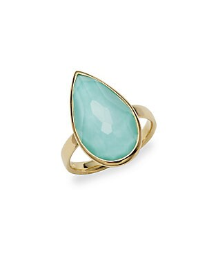 Turquoise and 18K Gold Ring