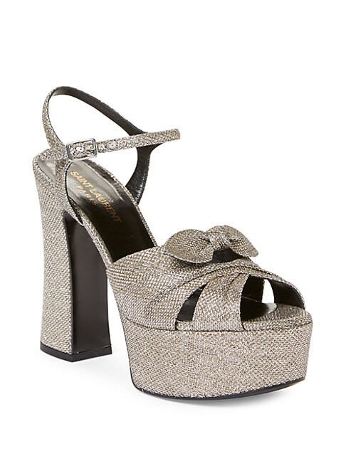 Candy Lurex Glitter Platform Sandals