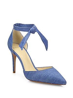 Cristinah Denim d'Orsay Ankle-Strap Pumps