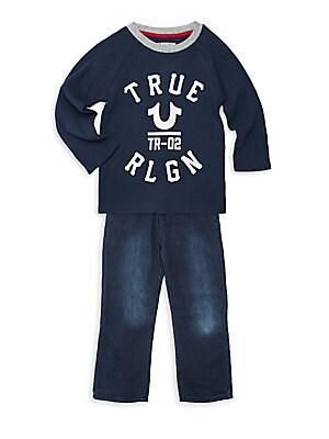 cb9f2e746 True Religion - Little Boy s 2-Piece Varsity Thermal Top   Jeans Set -  saksoff5th.com