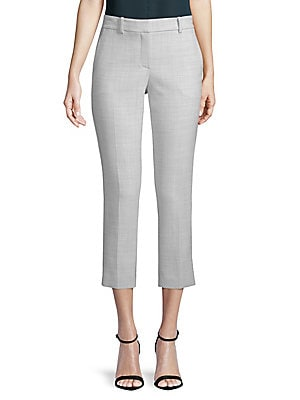 Treeca Melange Cropped Trousers