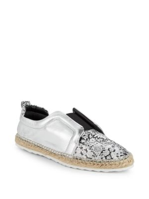 Pierre Hardy Sliderdrille Leather Espadrille Sneakers