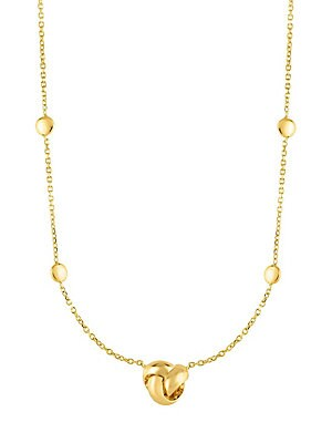 Yellow Gold Sparkle Chain Necklace by Saks Fifth Avenue