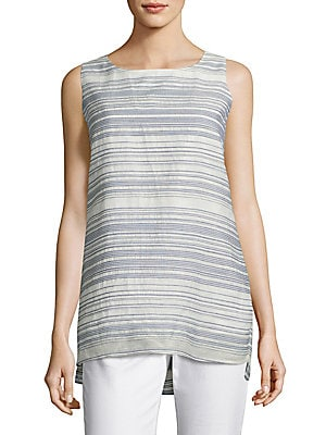 3c7991722ee80 Lafayette 148 New York - Ruthie Striped Cotton And Silk Blouse -  saksoff5th.com