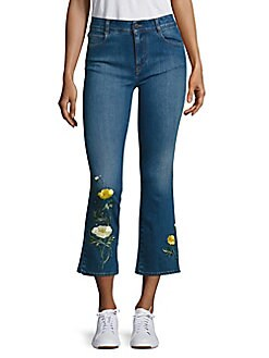 Stella McCartney - Skinny Kick Flare Medium Wash Cropped Jeans