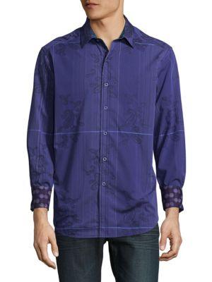 Robert Graham  Broulder Cotton Casual Button-Down Shirt