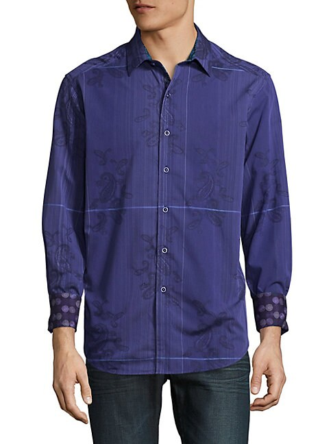 Broulder Cotton Casual Button-Down Shirt