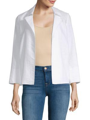 Phillipe Notch-Collar Topper Jacket in White
