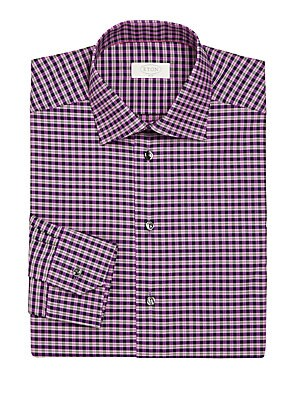 York Slim-Fit Check Twill Dress Shirt