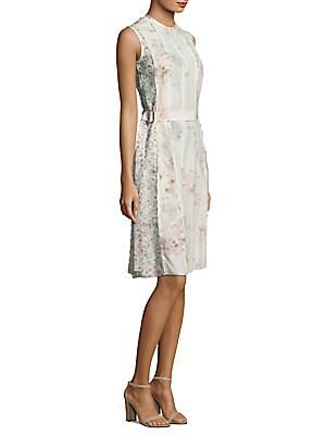 Calvin Klein Floral Silk Dress
