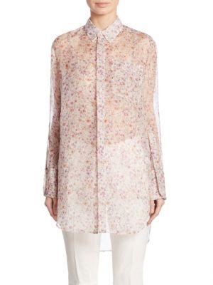 Calvin Klein Kershaw Floral-Print Silk Tunic