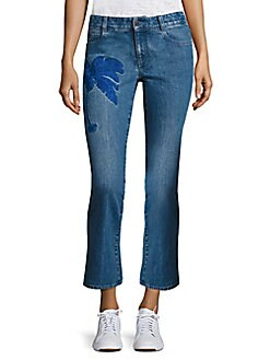 Peserico - Embroidered Skinny Kick Flare Jeans