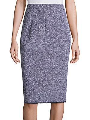 Stretch Tweed Skirt
